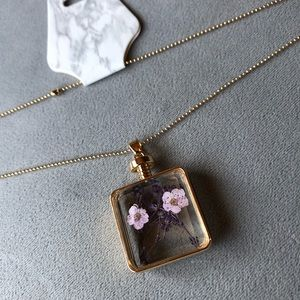 Flower Pendant ~ Purple and Pink Flowers ~ NWT